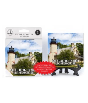 McGulpin Point Lighthouse Coaster easel