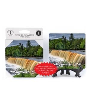 Tahquamenon Falls Coaster with easel