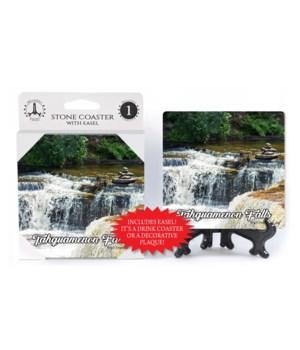 Lower Tahquamenon Falls Coaster w/easel