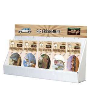 Wild Wings Outdoor Art Air Fresheners Large Counter Display