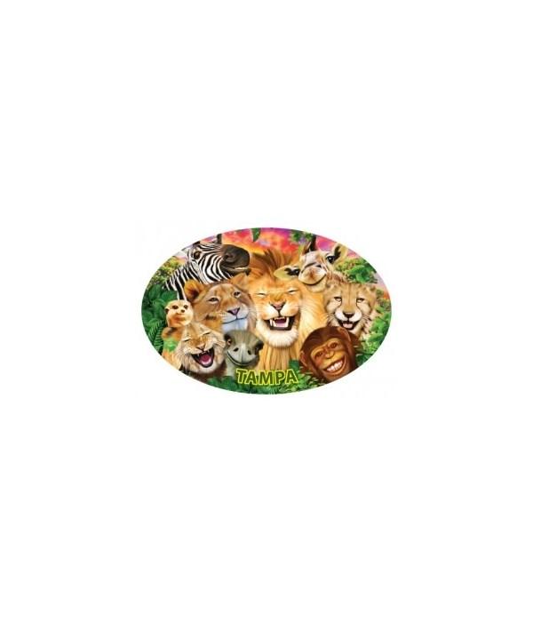 Safari Animals - Michael Searle oval mag