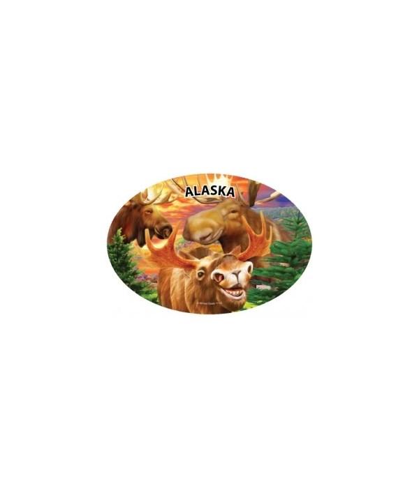 Moose (3) - Michael Searle oval magnet (