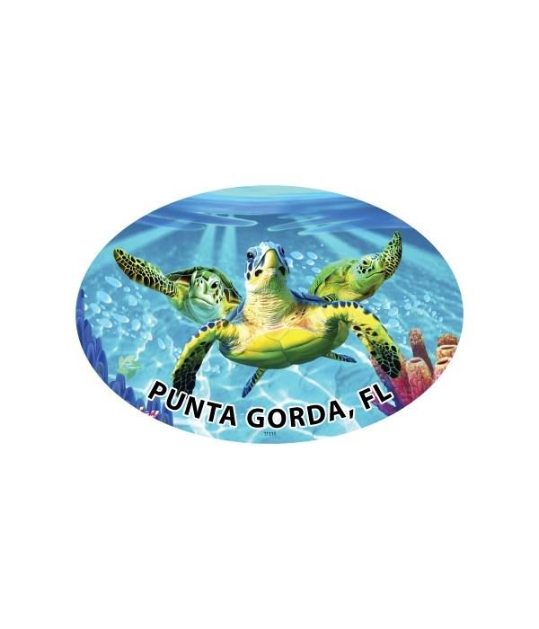Sea Turtles (3) - Michael Searle oval ma