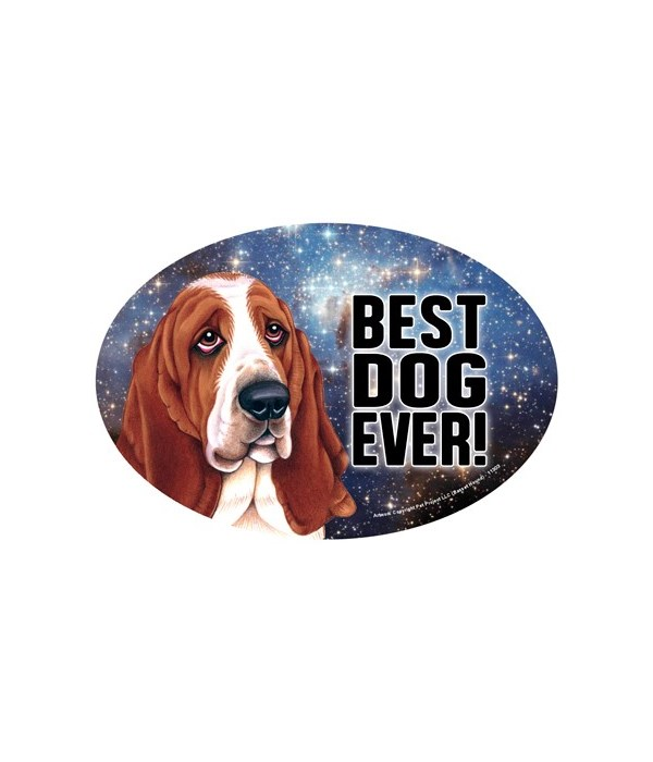"Basset Hound (Best Dog Ever!) 6"" Oval Ma"