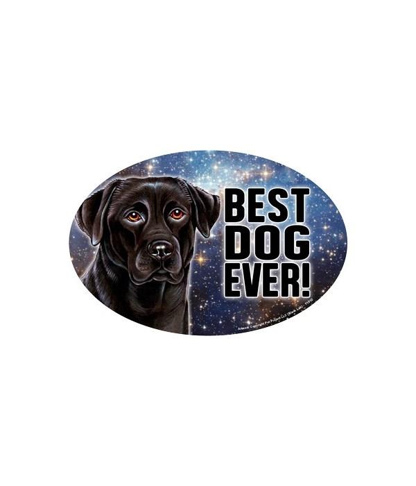 """Black Lab (Best Dog Ever!) 6"""" Oval Magne"""
