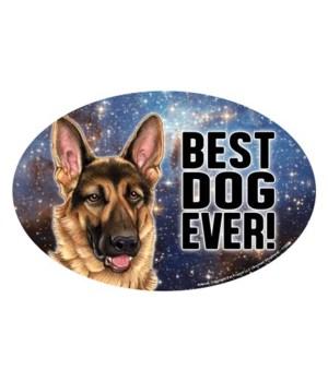 "German Shepherd (Best Dog Ever!) 6"" Oval"