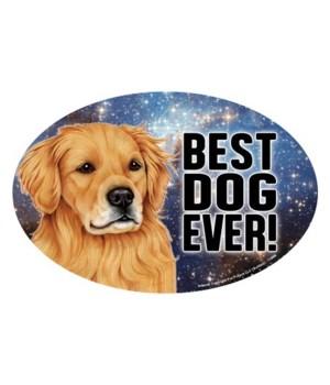 """Golden Retriever (Best Dog Ever!) 6"""" Ova"""