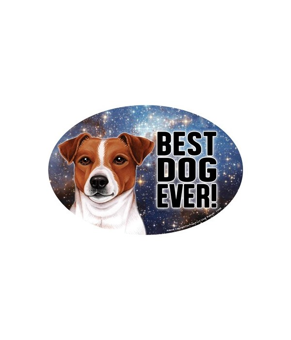 """Jack Russell (Best Dog Ever!) 6"""" Oval Ma"""