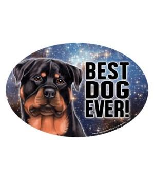 """Rottweiler (Best Dog Ever!) 6"""" Oval Magn"""
