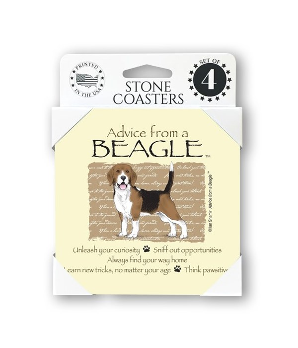 Advice from a Beagle  coaster 4-pack