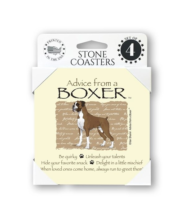 Advice from a Boxer  coaster 4-pack