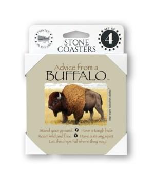 Advice from a Buffalo  coaster 4-pack