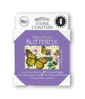 Advice from a Butterfly  coaster 4-pack