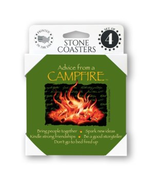 Advice from a Campfire  coaster 4-pack