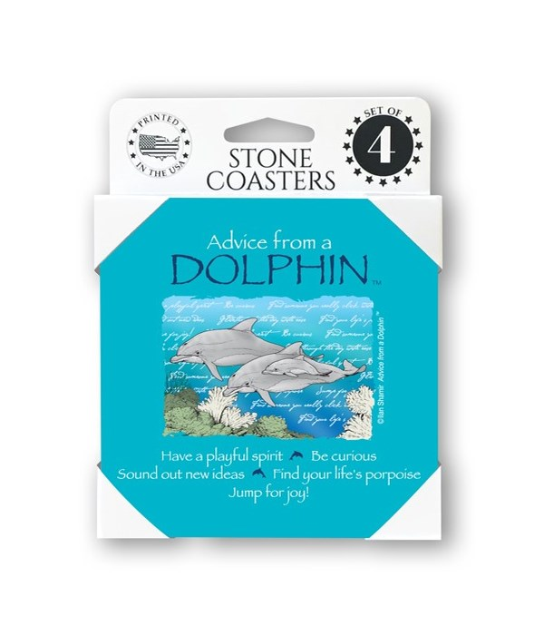 Advice from a Dolphin  coaster 4-pack