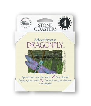 Advice from a Dragonfly  coaster 4-pack