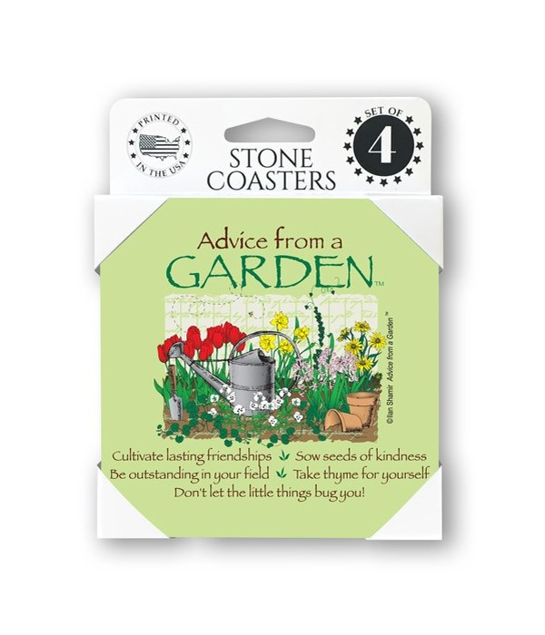 Advice from a Garden  coaster 4-pack