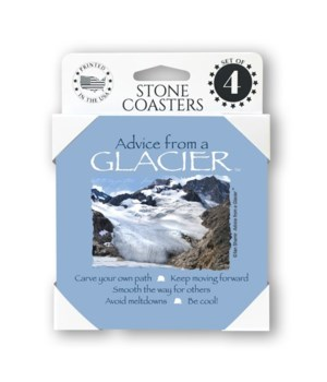 Advice from a Glacier  coaster 4-pack