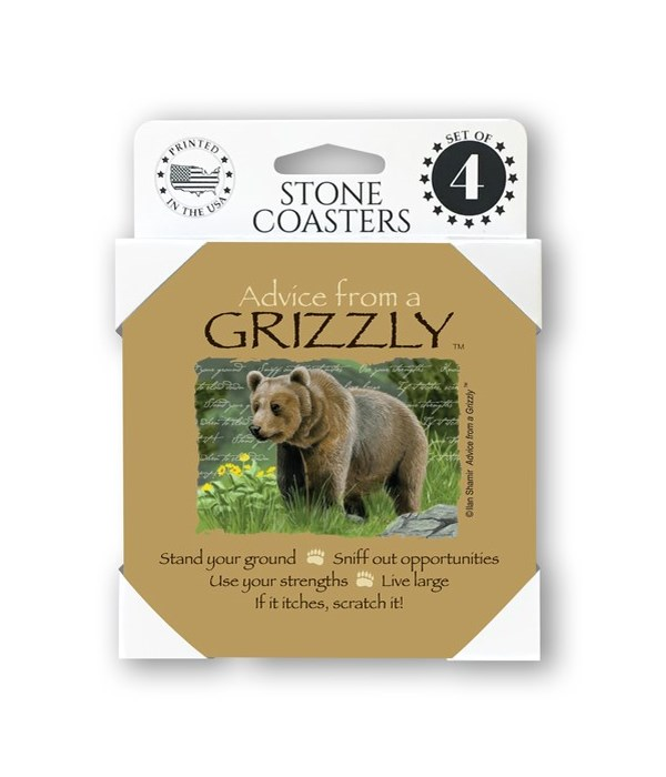 Advice from a Grizzly  coaster 4-pack
