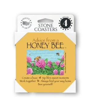 Advice from a Honey Bee  coaster 4-pack