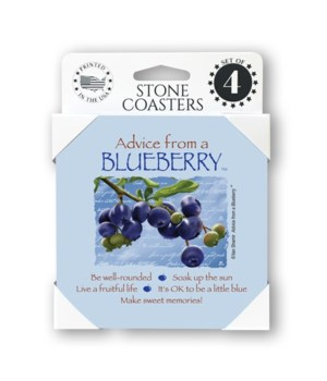 Advice from a Blueberry  coaster 4-pack