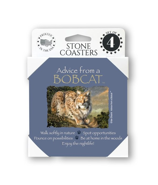 Advice from a Bobcat  coaster 4-pack