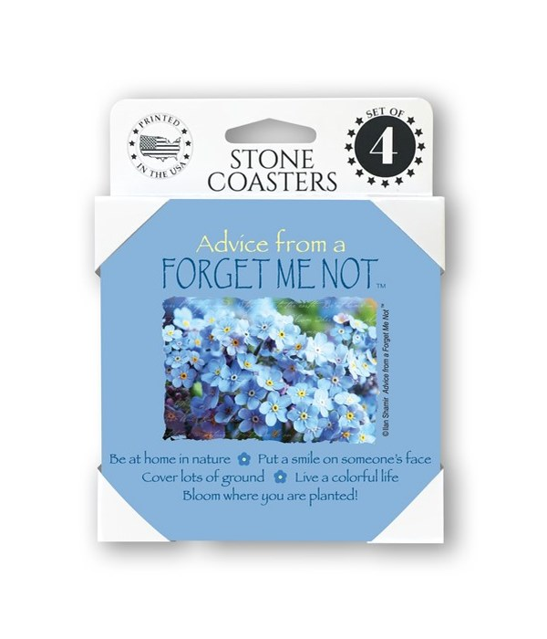 Advice from a Forget Me not  coaster 4-