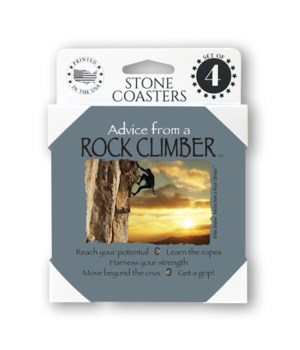 Advice from a Rock Climber 4 Pack Coaste