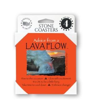 Advice from a Lava Flow 4 Pack Coaster