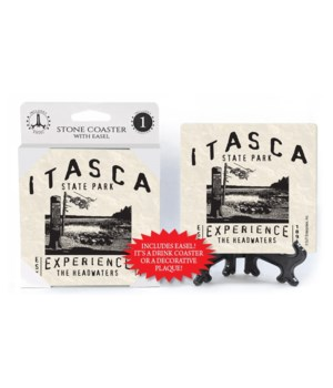 "Itasca State Park 4"" coaster 4 pack"