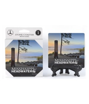 "Mississippi Headwaters 4"" coaster 4 pack"