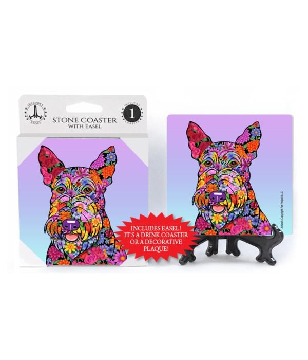 Scottish Terrier (flower design)