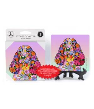 Springer Spaniel (flower design)