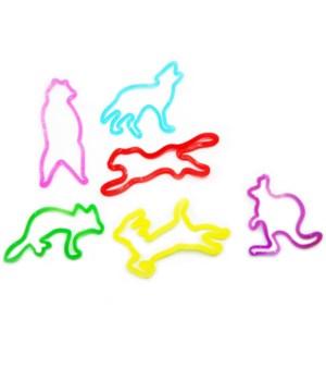 *Zoo/wild animal Glitter Bands(12ea)
