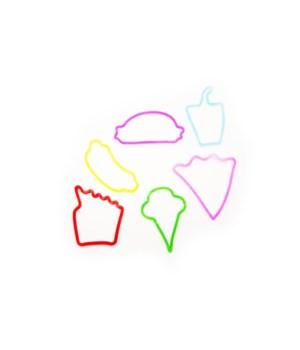 *Fast food Glitter Bands(12ea) x12