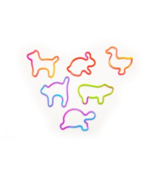 Zoo animal silicon bands-tie-dyed-12pc