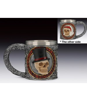 """Wedding Skull Mug 4 1/4""""H"""