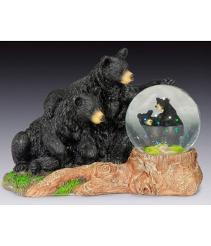 BLACK BEAR FAMILY W/WATER DOME