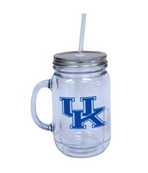 U-KY Mug Plastic Mason Jar 20oz