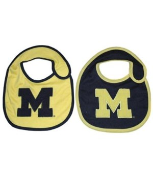 UM Infant Bib Logo 2PC