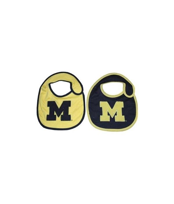 UM Infant Bib Logo 2PC