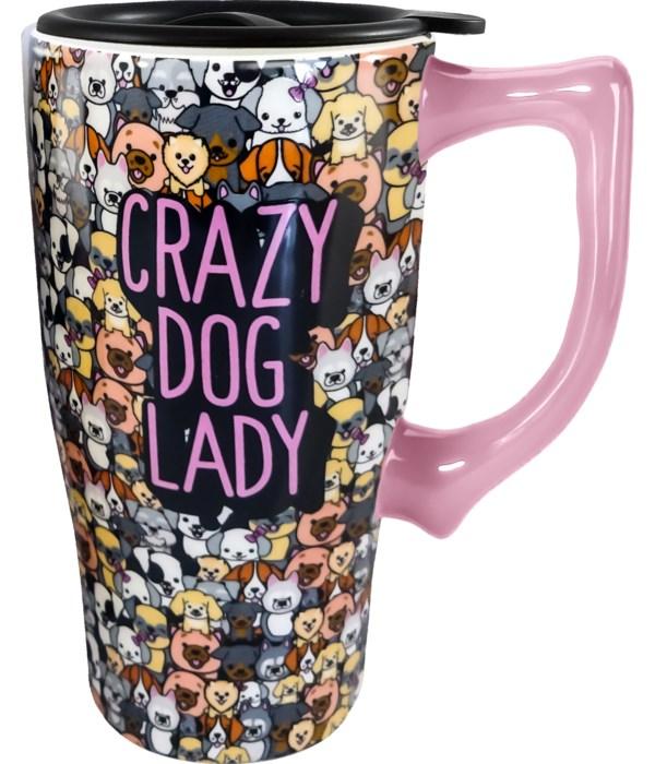 CRAZY DOG LADY TRAVEL MUG