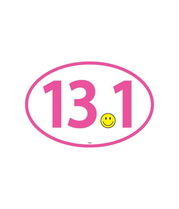 13.1 (smiley for dot) Pink Oval magnet