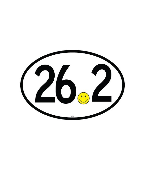 26.2 (smiley for dot) Oval magnet