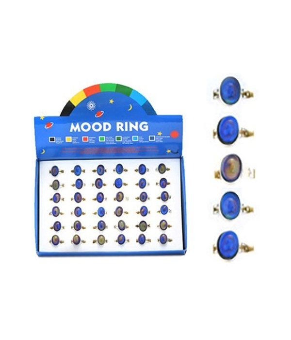 Oval Shaped Mood Ring 36PC