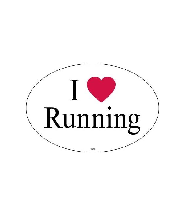 I (heart) Running Oval magnet