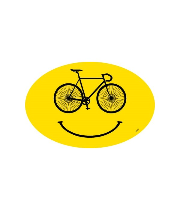 Smile cycle Oval magnet