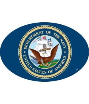 Navy Logo Oval magnet