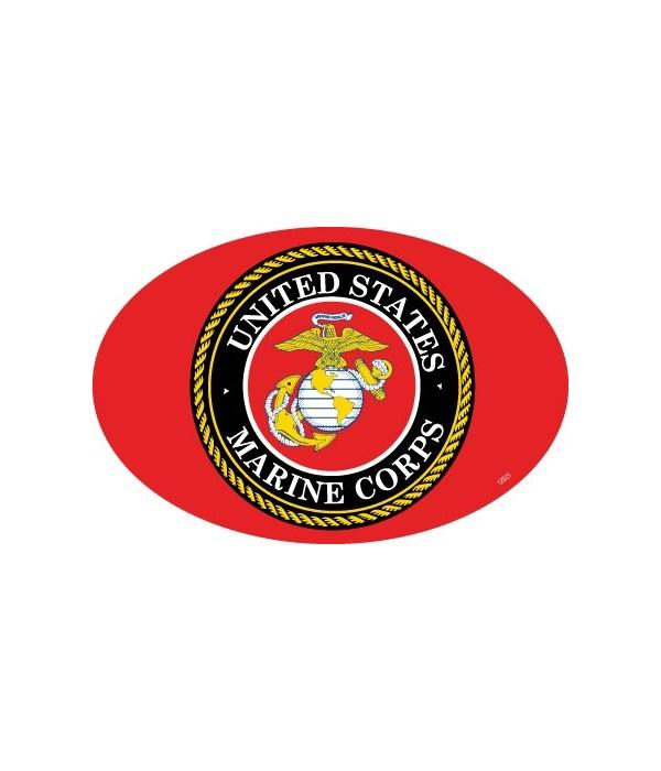 Marines Logo Oval magnet