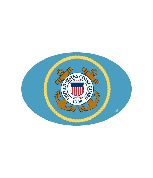 Coast Guard Logo Oval magnet